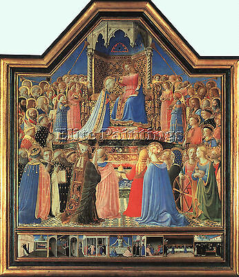 Fra Angelico C1 Artist Painting Reproduction Handmade Oil Canvas Repro Art Deco