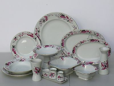 Dinner set for 6 people/33 pcs WILD BERRY, Lomonosov Imperial Porcelain, Russia