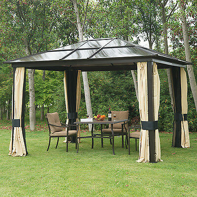 luxus alu pavillon partyzelt gartenzelt mit lichtdurchl ssigem pc dach 3 x 3 6 m. Black Bedroom Furniture Sets. Home Design Ideas