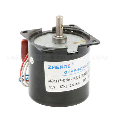 AC 220V 2.5RPM Synchronous Gear Electric Motor Speed Reducing Gear-Box