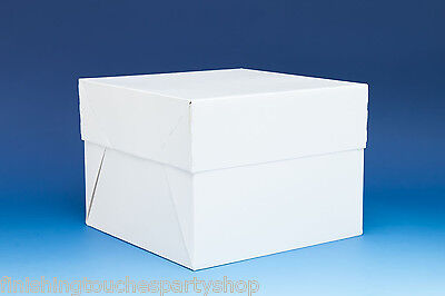 White Stapleless Card Cake Box with Separate Lid for all Celebration cakes