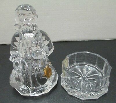 Santa Claus Clear Crystal Candy Dish by Mikasa
