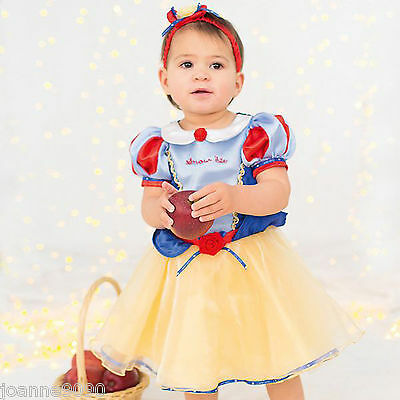 Baby Toddler Disney Princess Snow White Fairytale Fancy Dress Costume Outfit