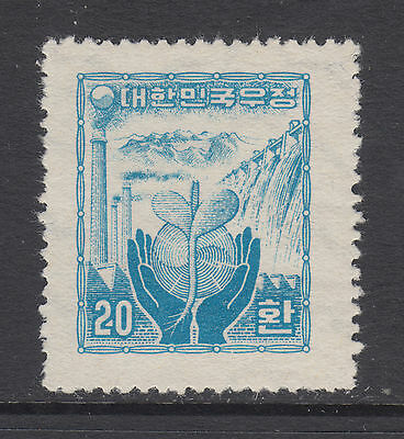 Korea Sc 211 MLH. 1955 20h blue Reconstruction, key stamp to set, VF & rare
