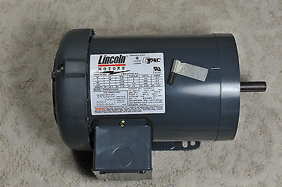 New Lincoln LM10340 SRF4S1TC61Q20 1 HP 56C Motor made in usa