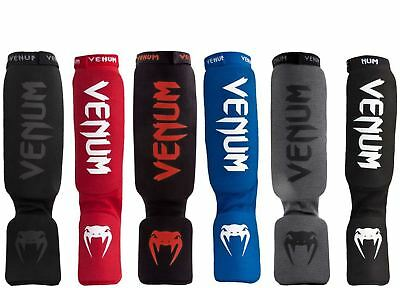 Venum Kontact Shin Guards and Instep Protectors MMA Competition Muay Thai