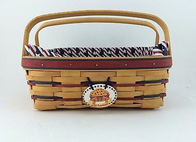 Longaberger 1997 All American Pie Basket Combo w Tie On