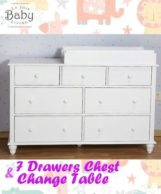 Baby Change Table, 7 Drawers, Changing Table