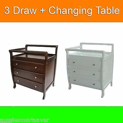 Baby Change Table, 3 Drawers, Baby Chest