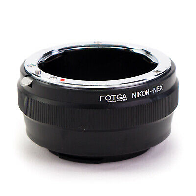 Adapter Ring Nikon F Lens to Sony E-Mount Camera NEX A7S A7R II A6000 A6300 A7