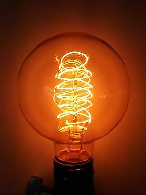 (4/PK)Simple Vintage G80 Edison Light Bulb 60W Antique Retro Tinted Globe Spiral