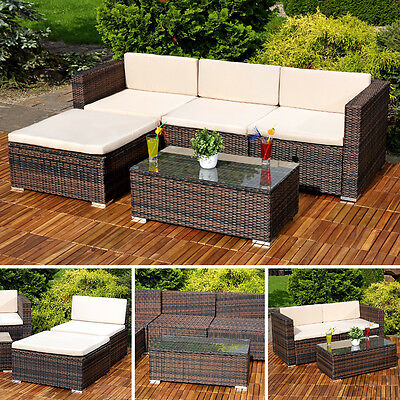 polyrattan sitzgarnitur esstisch tisch gartenm bel sitzgruppe lounge grau wow eur 999 00. Black Bedroom Furniture Sets. Home Design Ideas