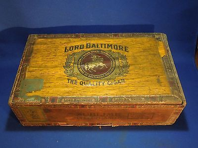 "Vintage Lord Baltimore Cigar Box Sublime Cellophaned ""The Quality Cigar"""