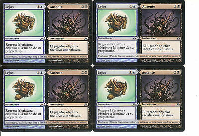mtg Magic 4x Far / Away ( Lejos / Ausente ) Excellent Spanish