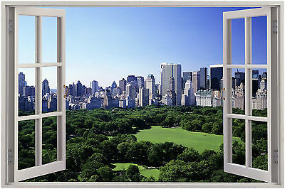 New York Central Park Window View WALL ART CANVAS FRAMED OR POSTER PRINT
