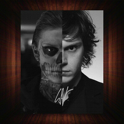 Evan Peters American Horror Story PP Signed Autograph Framed Photo/Canvas Print