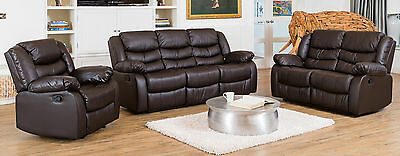 Brand New Luxurious Leather Sofa Suite - Different Sets and Colours Available