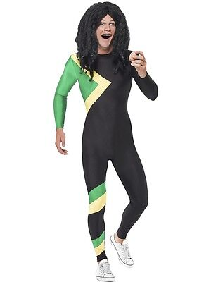 Adult Jamaican Hero Fancy Dress Costume Bobsleigh Bobsled Team Sports Rasta Mens