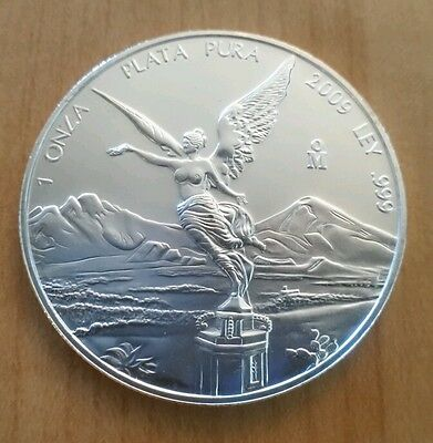 2009 Mexican Libertad One Ounce Solid .999 Fine Silver Coin.