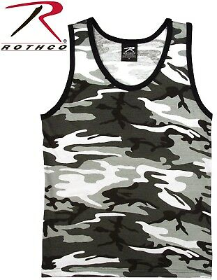 City Camouflage Army Navy Marines Tactical Military Top Army Camo Tank Top 6601