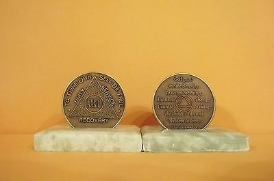 Recovery coins AA 33 Year Bronze Medallion tokens sobriety affirmation birthday