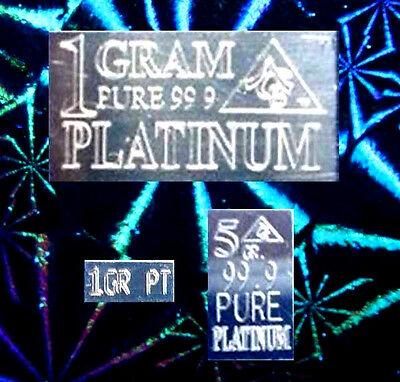 ACB PT Platinum BULLION MINTED 1 GRAM 5GRAIN & 1GRAIN BARS 99.9 Pure + silk bag^