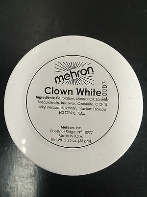 New Mehron professional clown white face paint makeup 65gr greasepaint mime