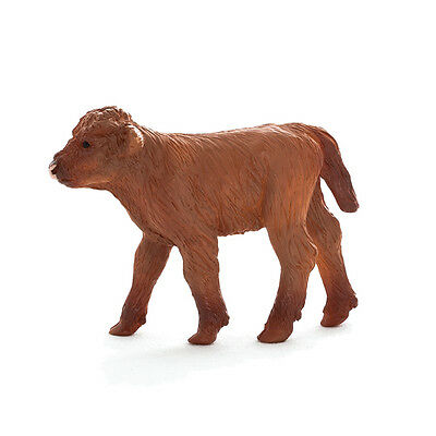 FREE SHIPPING | Mojo Fun 387202 Highland Calf Cow Toy Animal - New in Package