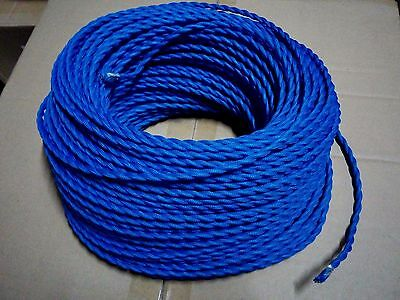 Simple Vintage 2-Wire Twisted Cloth Covered Wire Antique Lamp Cord Royal Blue