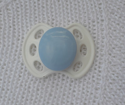 PJs ♥♥ Blue ♥♥  DUMMY PACIFIER SOOTHER + Magnets 4UR  REBORN BABY DOLL OOAK