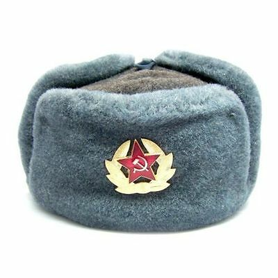 Authentic Soviet and Russian soldier army hat  ushanka