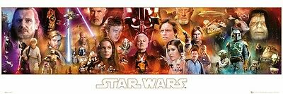 """Star Wars Slim Poster """"characters"""" Licensed """"brand New"""""""