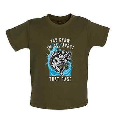 I'm All about That Bass - Baby T-shirt/ Tee - Fishing Funny - 8 Colours