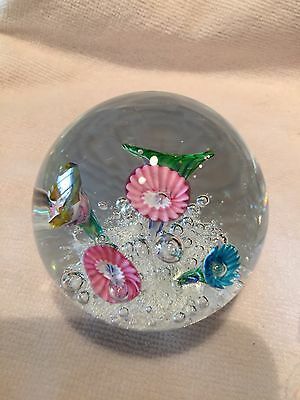 VINTAGE GLASS PAPERWEIGHT With Miniature Trumpets