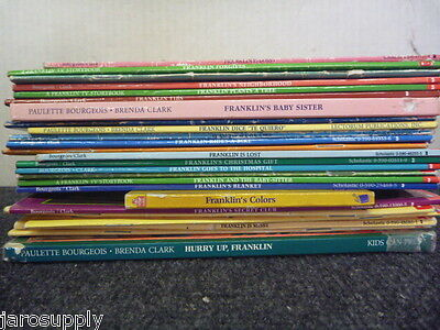 Lot of 10 Franklin the Turtle by Bourgeois Clark Kid Children Books MIX UNSORTED