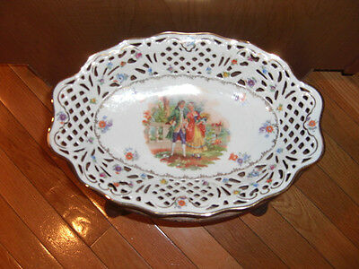 VINTAGE CICO LACE BORDER PLATTER BOWL GERMANY CHINA US ZONE 14