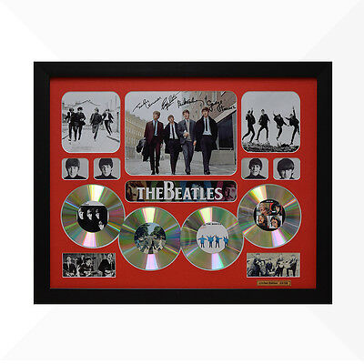 The Beatles Signed & Framed Memorabilia - 4 CD - Red - Limited Edition