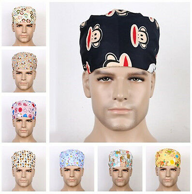 Men Doctors/Nurses Skull Cap Cute monkey bear Medical Surgical Surgery Hat Chef