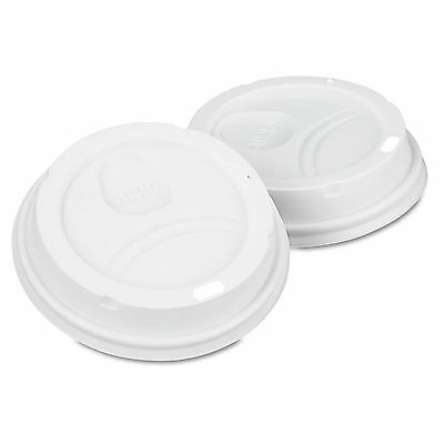 Dixie Lids 50 ct. PerfecTouch 10 - 16 oz Domed Hot Cup Lid White Coffee Tea