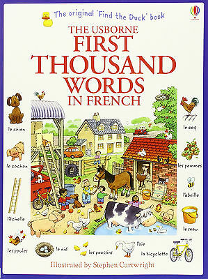 The Usborne First Thousand Words in French Book - Very Beginners Starters Basics