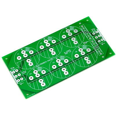 Capacitor Filter Bare PCB, Support 6pcs D35mm Electrolytic Capacitors.