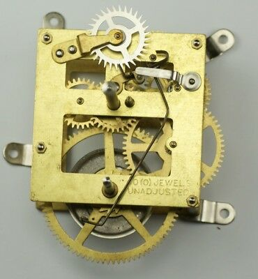 "New 8 day manual wind clock movement hands & winders 13"" drop clockmakers hobby"