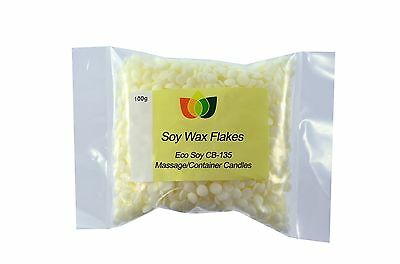 Soya Wax Flakes (Eco Soy CB-135) - 100g to 5kg - Massage/Container Candles