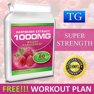 RASPBERRY KETONE EXTRACT 1000MG STRONGEST FAST WEIGHT LOSS DIET SLIMMING 60 Caps