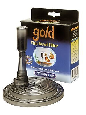 Interpet Gold Fish Bowl Filter Filtration Under Gravel Kit Goldfish Fish Tank