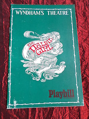 The Italian Girl- Wyndhams  Theatre Playbill Programme -Timothy West
