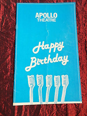 Happy Birthday  - Apollo Theatre Programme - Julia Foster - Ian Lavender