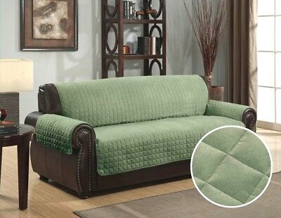 Quilted Micro Suede Pet Dog Couch Sofa Furniture Protector Cover, Kashi, Sage