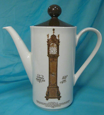 MITTERTEICH PORZELLAN German Teapot Coffee Pot - Clock & German Text