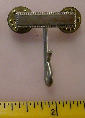 Vintage Police Uniform Whistle Lanyard Clip, Silver Tone, Whistle Hook